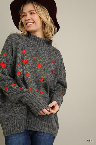 Sophia Turtle Neck Sweater : Ash
