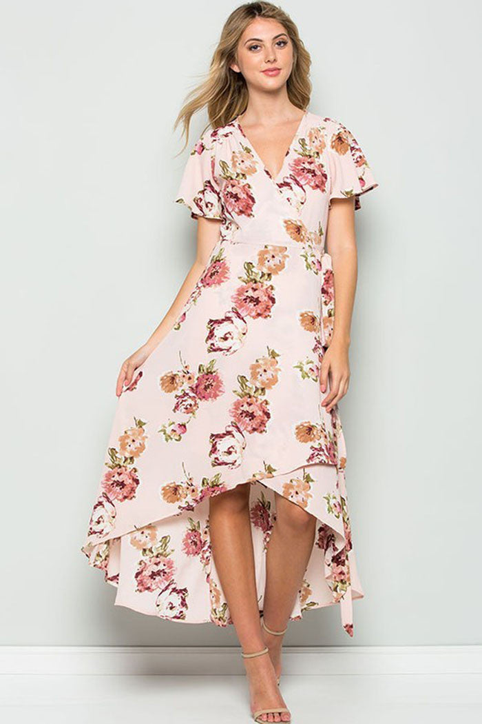 Floral Wrap Maxi Dress - Maxi - GOZON