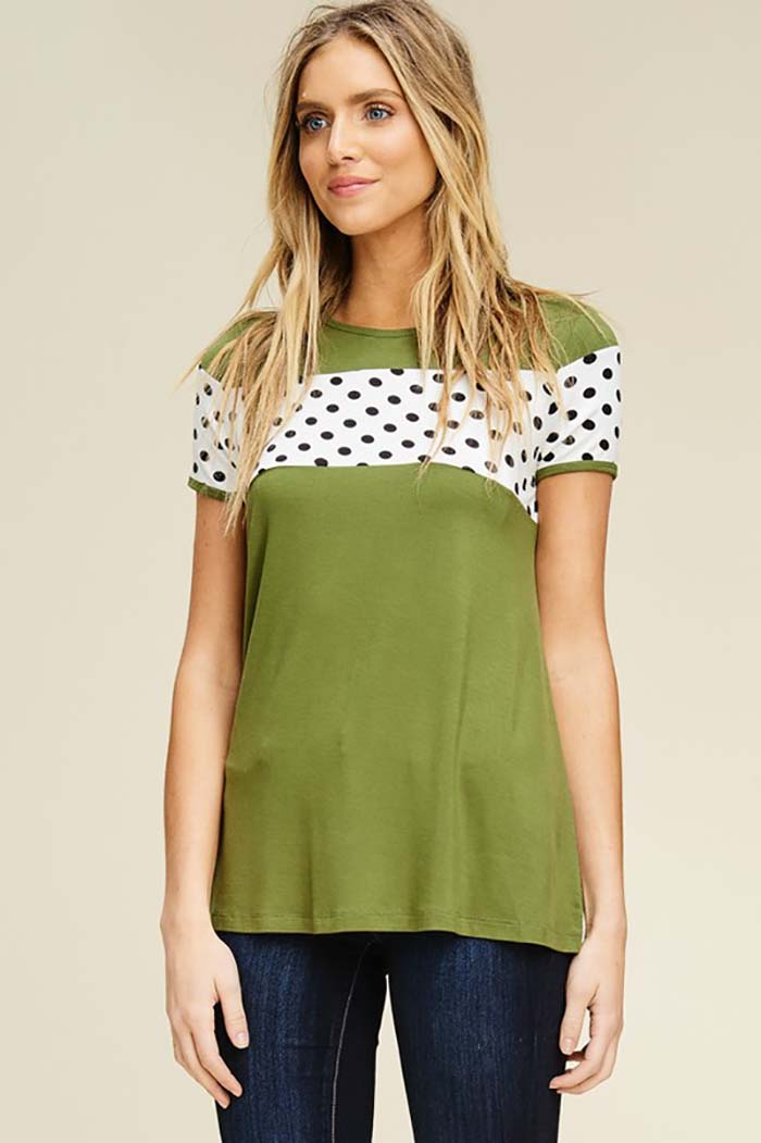 Dorothy Polka Dot Short Sleeve Top : Cargo