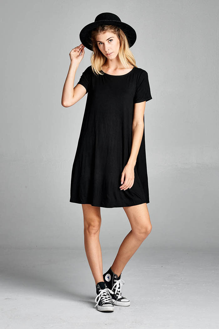 T-Shirt Swing Dress - Mini - GOZON