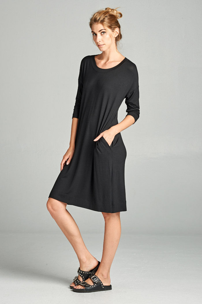 78878bf386 Comfy Midi Dress for Women - Gozon – GOZON Boutique