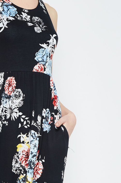 Bunch of Floral Dress : Black