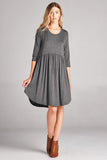 Casual Solid Basic Dress - Mini - GOZON