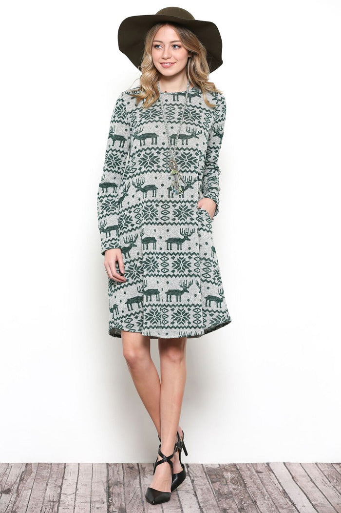 7412ecafb0 Christmas Midi Dress for Women - Gozon – GOZON Boutique