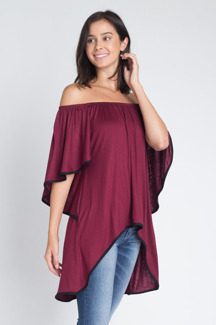 Taylor Off The Shoulder Top : Mauve