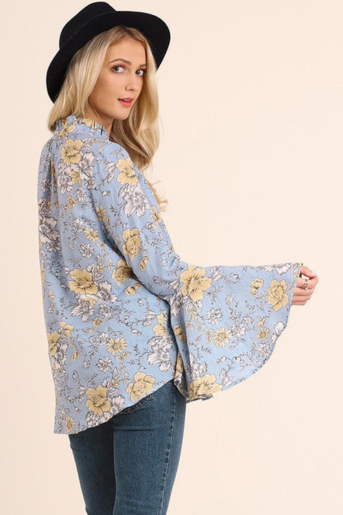 Floral Lovely Blouse - Shirts - GOZON