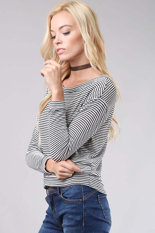 Daily Stripe Long Sleeve Top