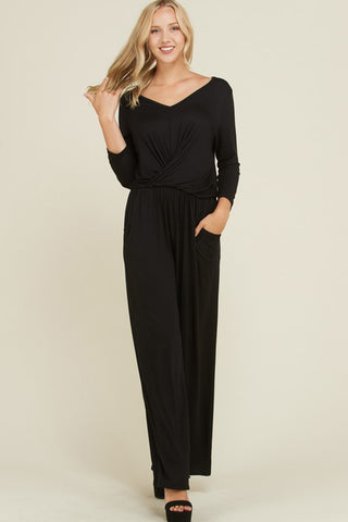 Kelly Cowl Neck Tunic Top : Black