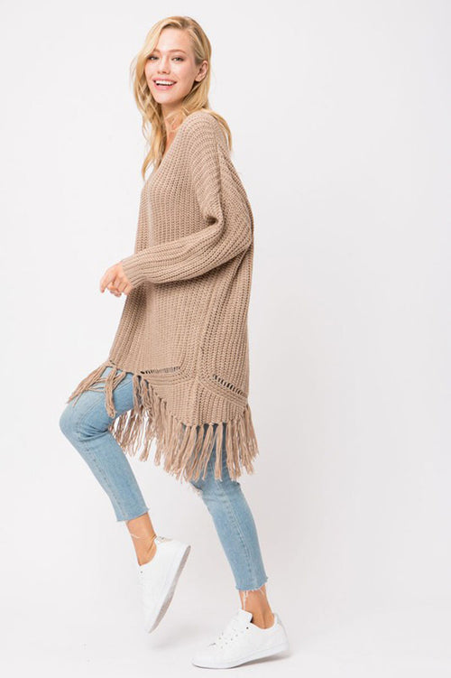 Brooke Chunky Knit Sweater Dress : Cocoa