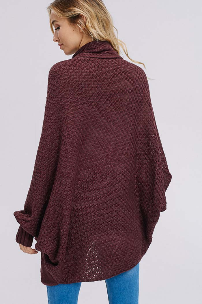 Elise Dolman Sleeve Cardigan : Brown