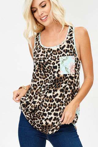 Sylvia  Stripe Hi-Lo Top Plus : Black/Cream