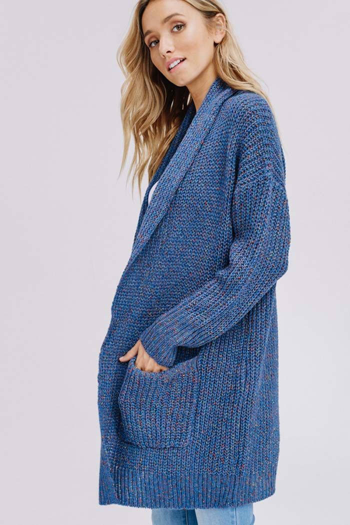 Heidi Essential Sweater Cardigan : Blue