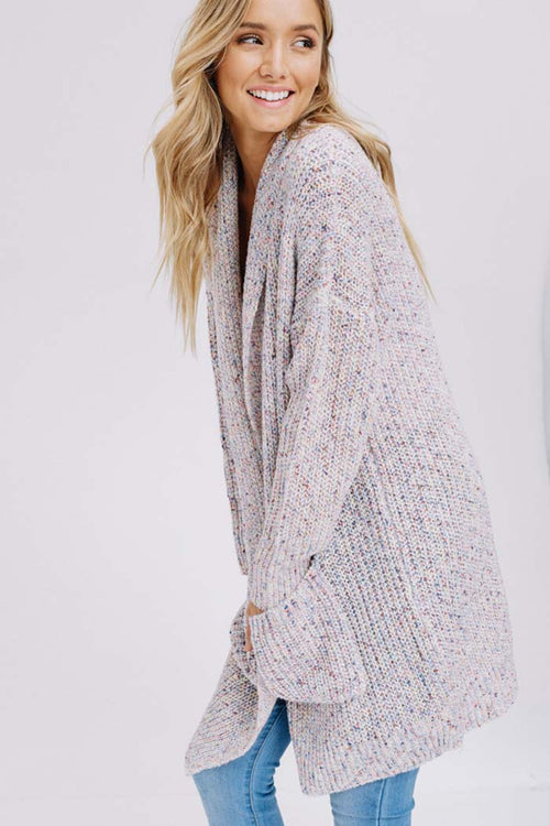 Heidi Essential Sweater Cardigan : Cream