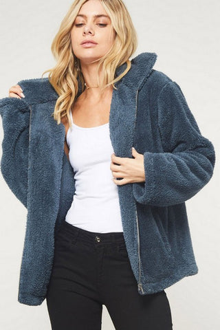 Hannah Cable Knit Cardigan : Navy