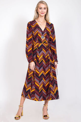 Lisa Solid And Elephant Print Tunic Top : Burgundy