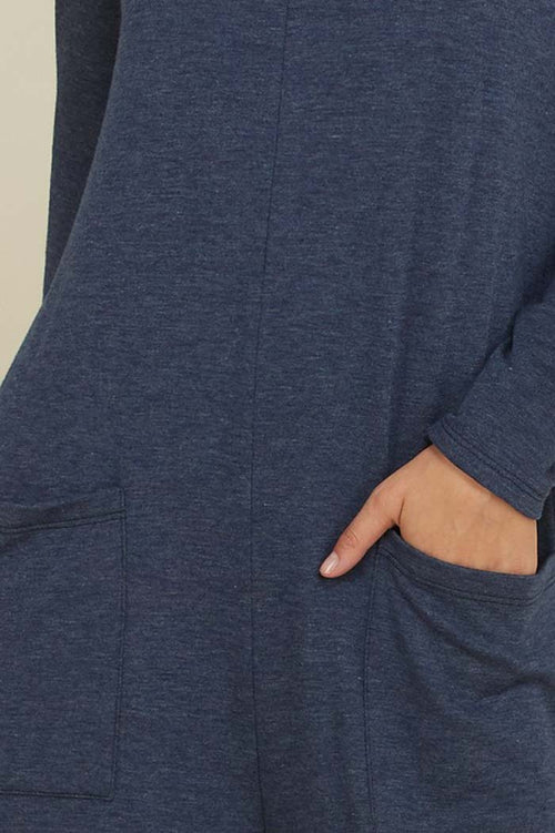 Victoria Long Sleeve Jumpsuits : Navy