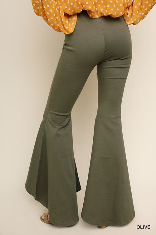 Willow Flare Leg Pants : Olive