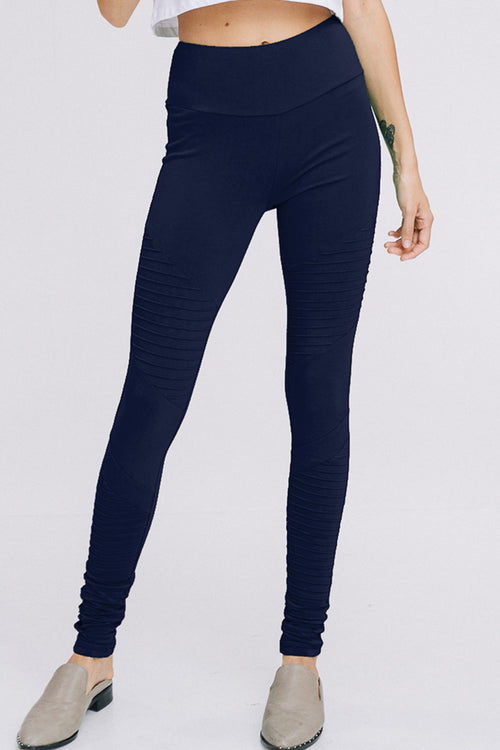 Jenny High Waist Tummy Control Yoga Leggings : Navy
