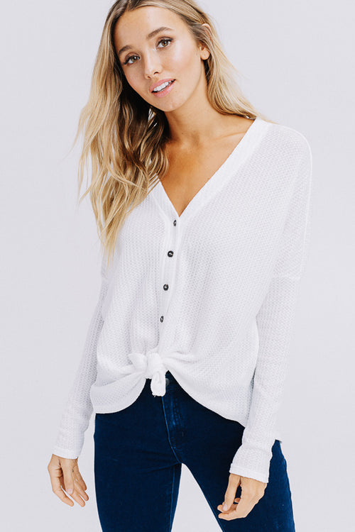 Arianna Button Down Sweater : Off White