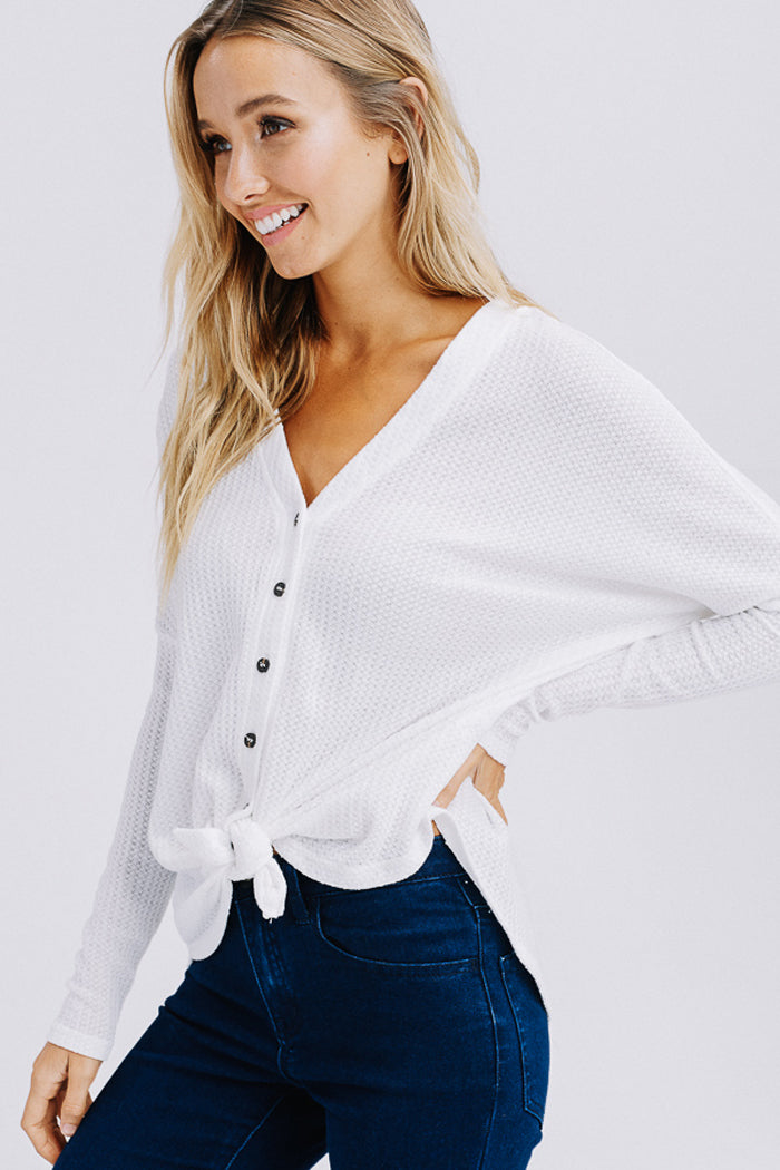 Arianna Button Down Sweater : Black