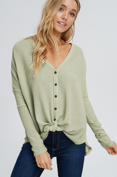 Arianna Button Down Sweater : Sage