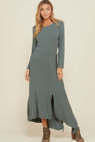 Jennifer Ruffle Maxi Dress : Navy