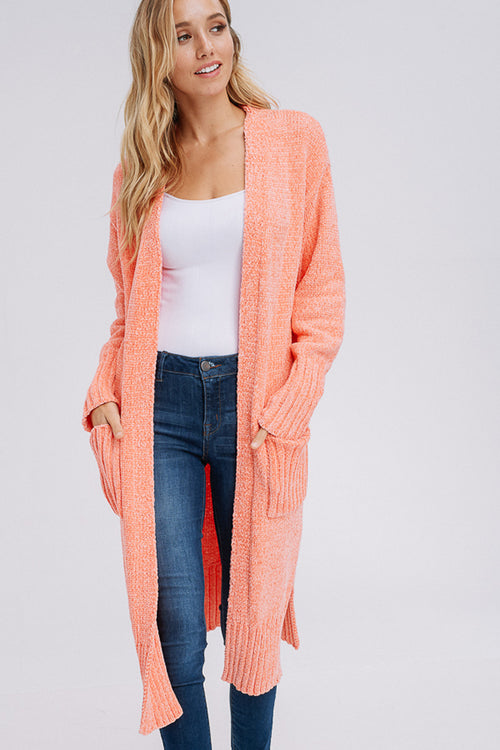 Cynthia Cozy Midi Cardigan : Bubble Pink