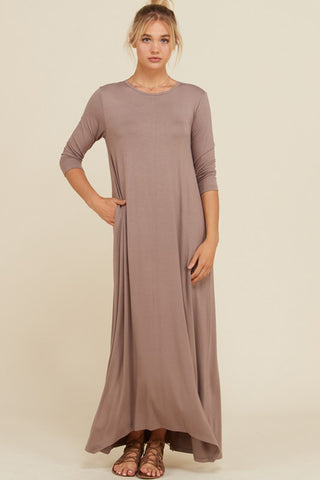 Melody V-Neck Maxi Dress : Slate