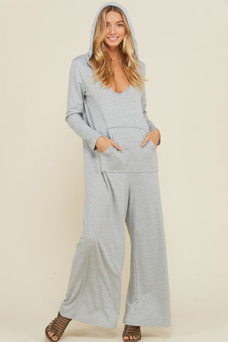 7884f3db421 Madeleine French Terry Hooded Jumpsuit   Heather Grey.  39.00. Monica Polka  Dot Jumpsuits   Navy