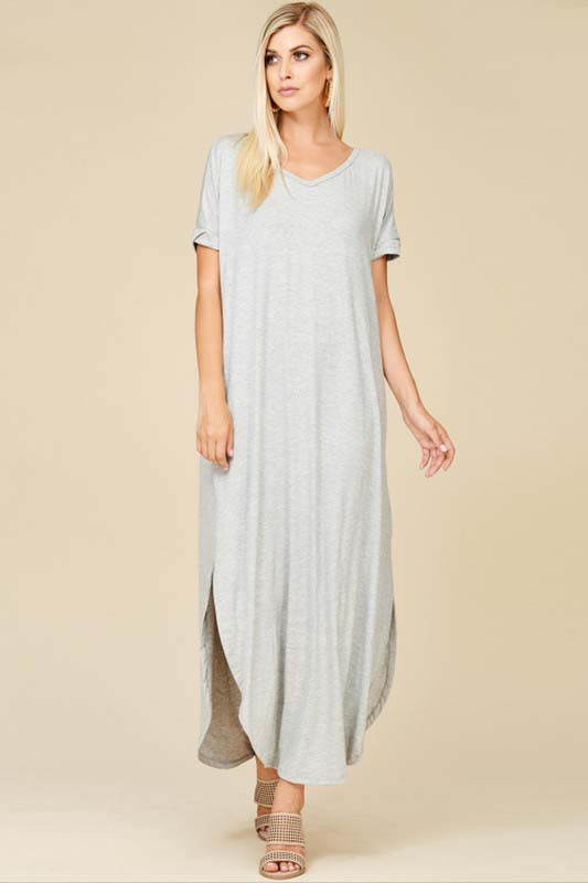 Ashley Essential Maxi Dress : Heather Grey