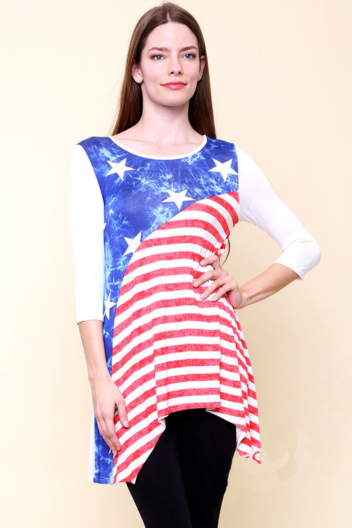 Casual Flag Top