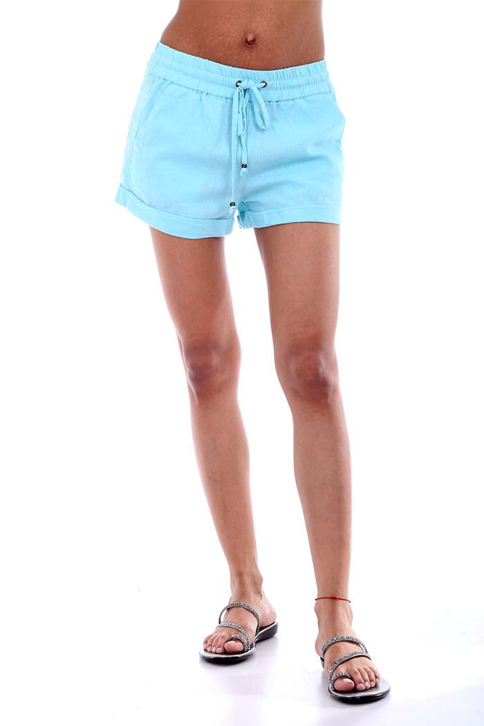 Solid Linen Shorts