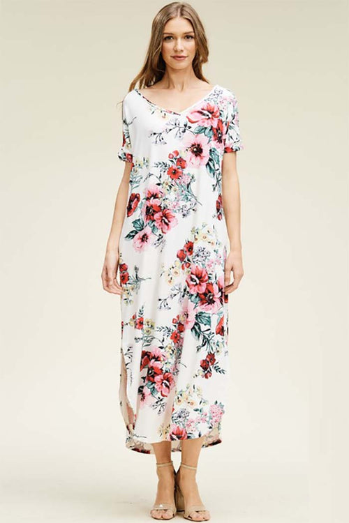 Willow Floral Oversize Maxi Dress : Ivory
