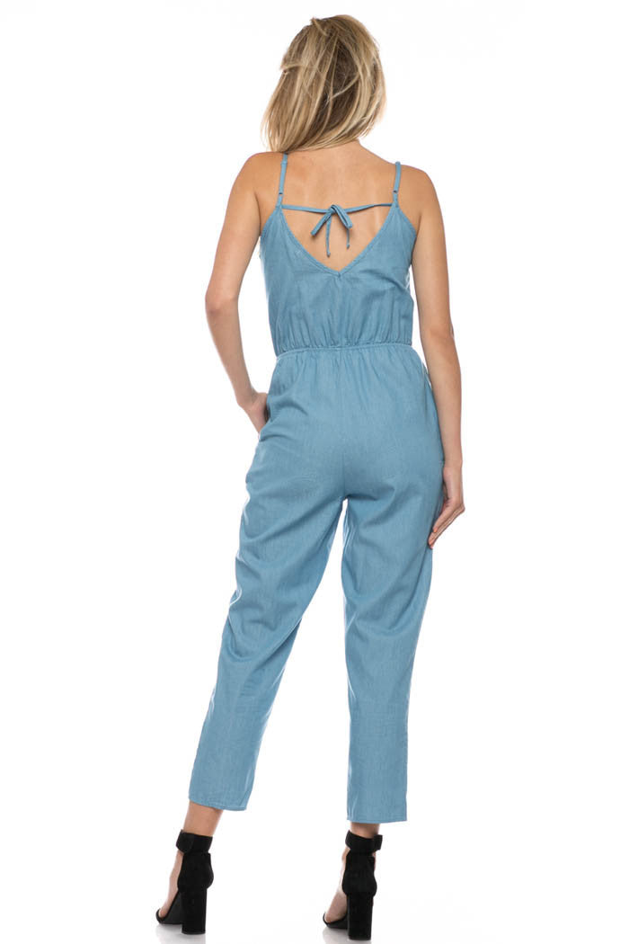 Casual Tie Back Jumpsuits