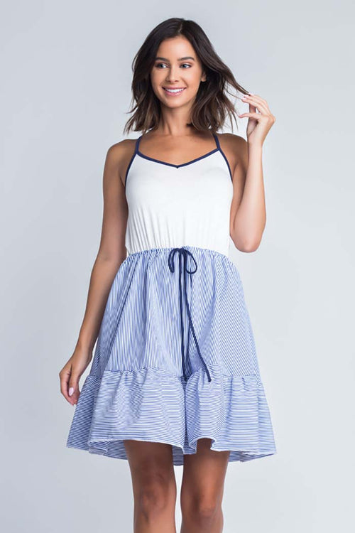 Grace Cami  Twofer Dress : Denim Blue