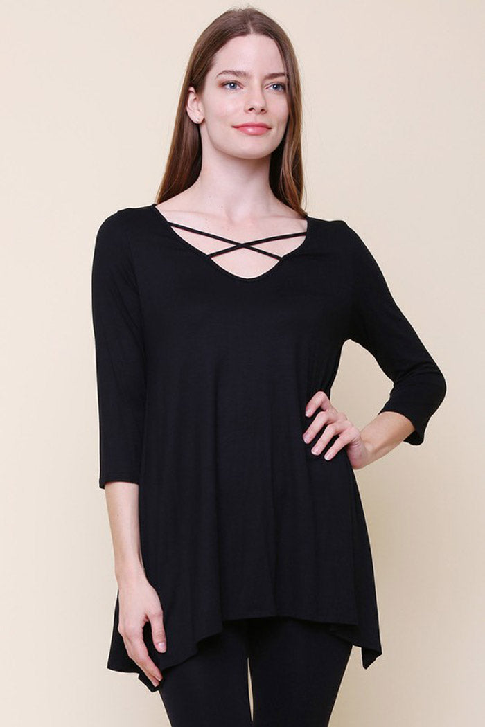 Strap Detail Tunic Top
