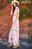 Lovely Pastel Floral Dress - maxi - GOZON