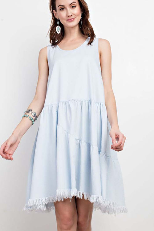 Isabelle Babydoll Denim Dress : Light Denim