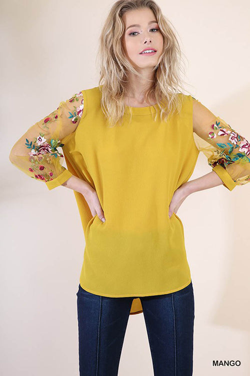 Lydia Puff Sleeve Top : Mango