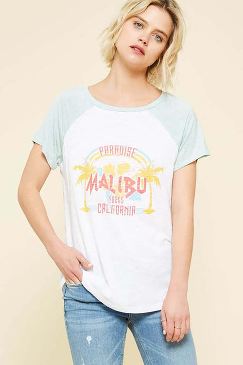 Joelle Malibu Graphic Top : Mint