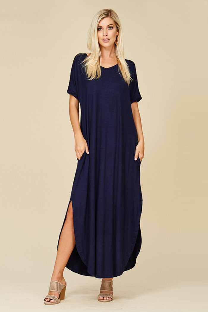 Ashley Essential Maxi Dress : Royal Blue