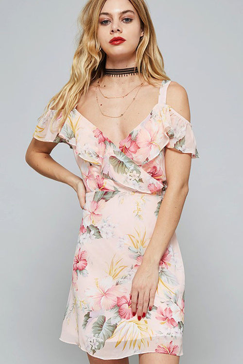 Light Color Floral Dress - mini - GOZON
