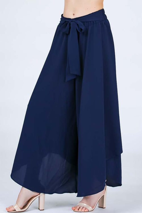 Chole Wide Leg Trousers : Navy