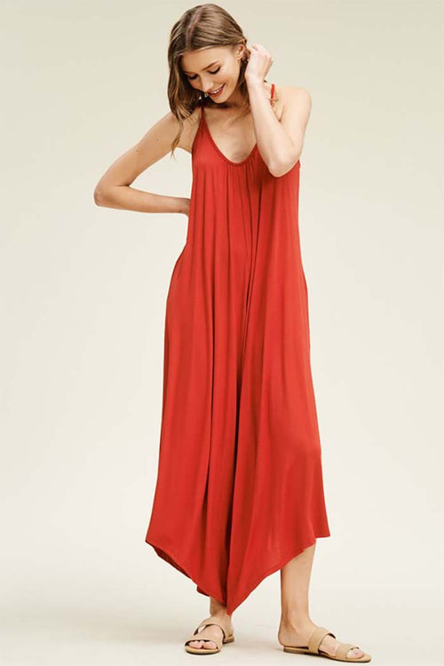 Rebecca Strap Jumpsuits : New Red