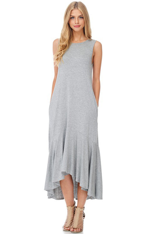 Daily Solid Midi Dress - Midi - GOZON