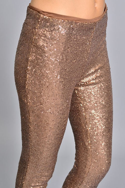 Lexi Sequins Pants : Bronze