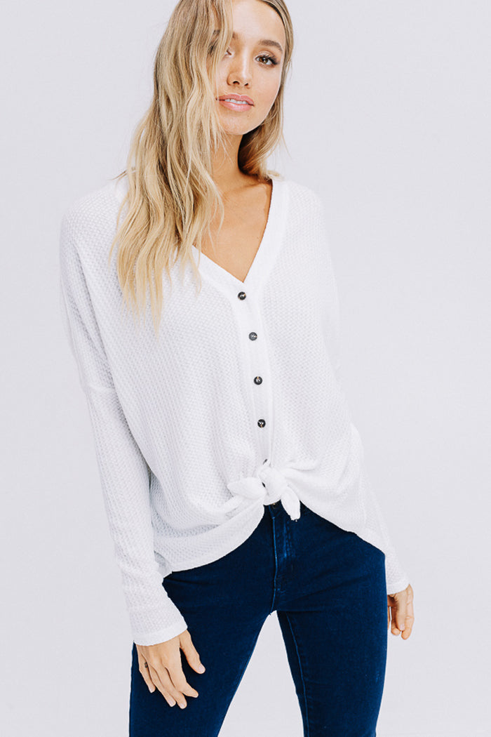 Arianna Button Down Sweater : Blush
