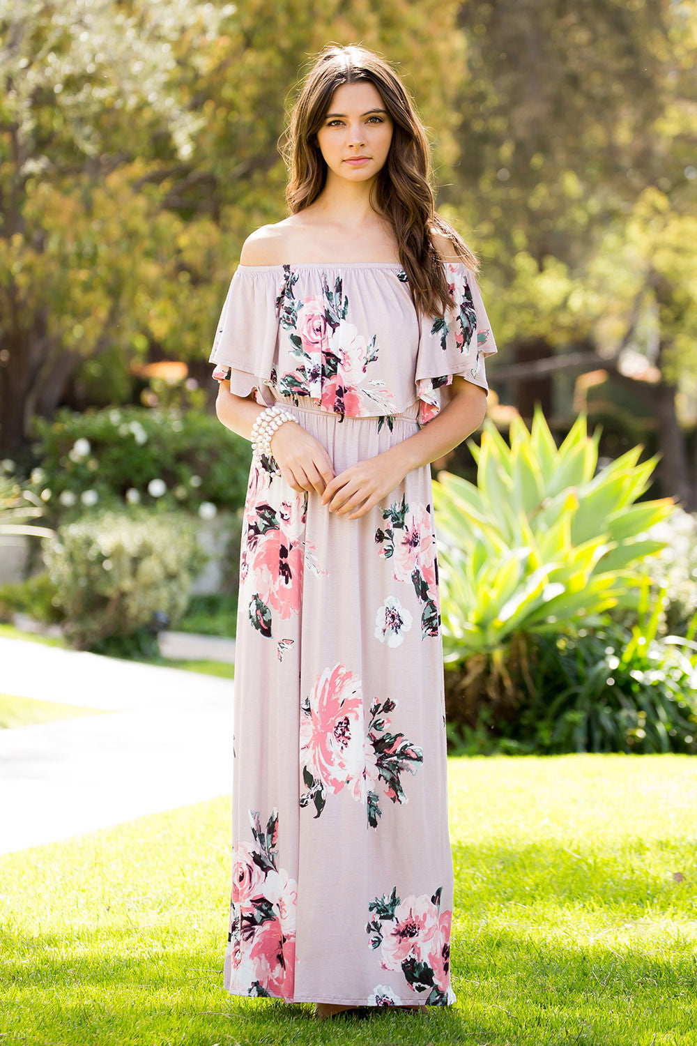 Romantic Floral Maxi Dress - Maxi - GOZON