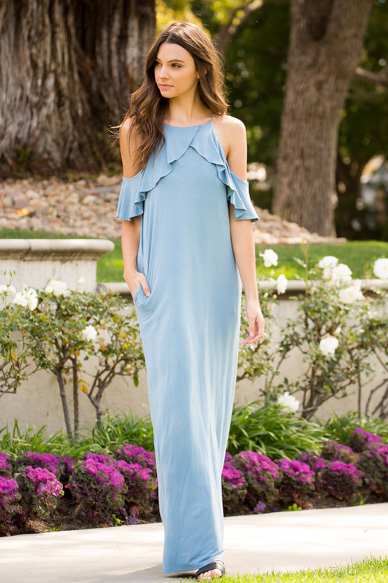 Lovely Maxi Dress : Chambray