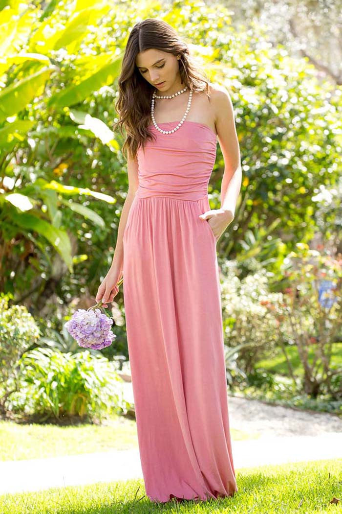 Bridesmaid Tube Maxi Dress - maxi - GOZON